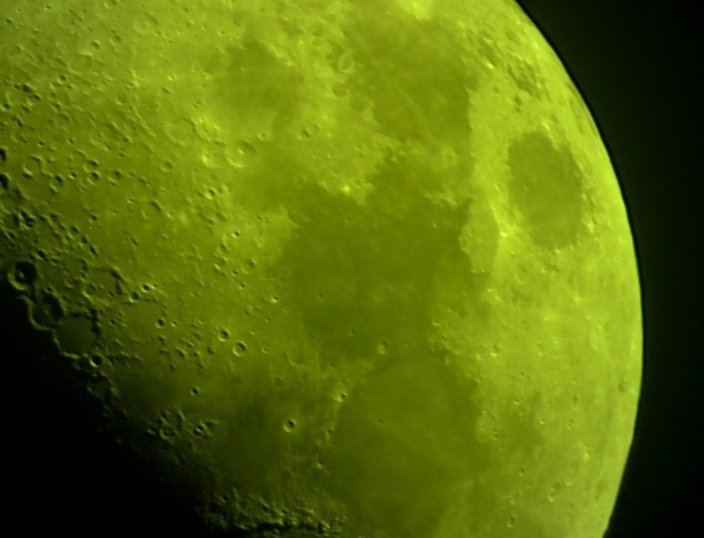 Moon with Yellow Filter