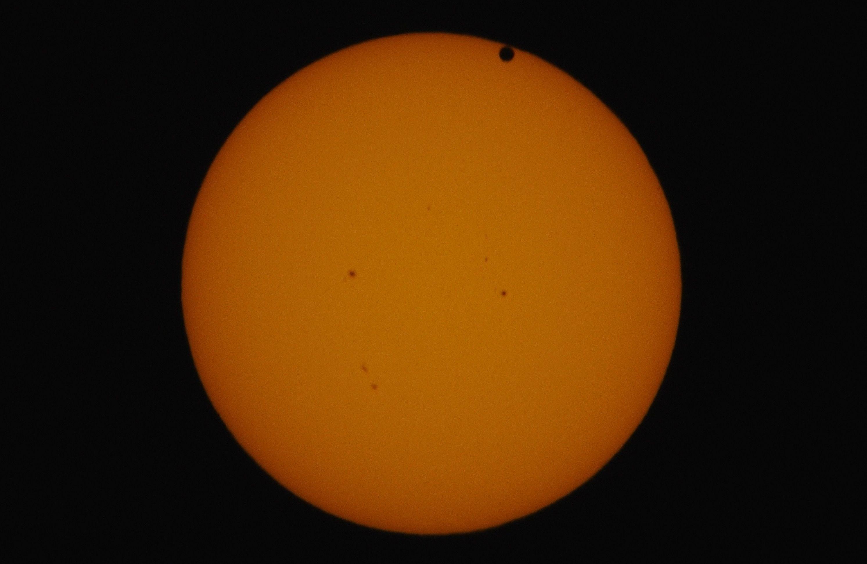Second Contact of Venus Transit