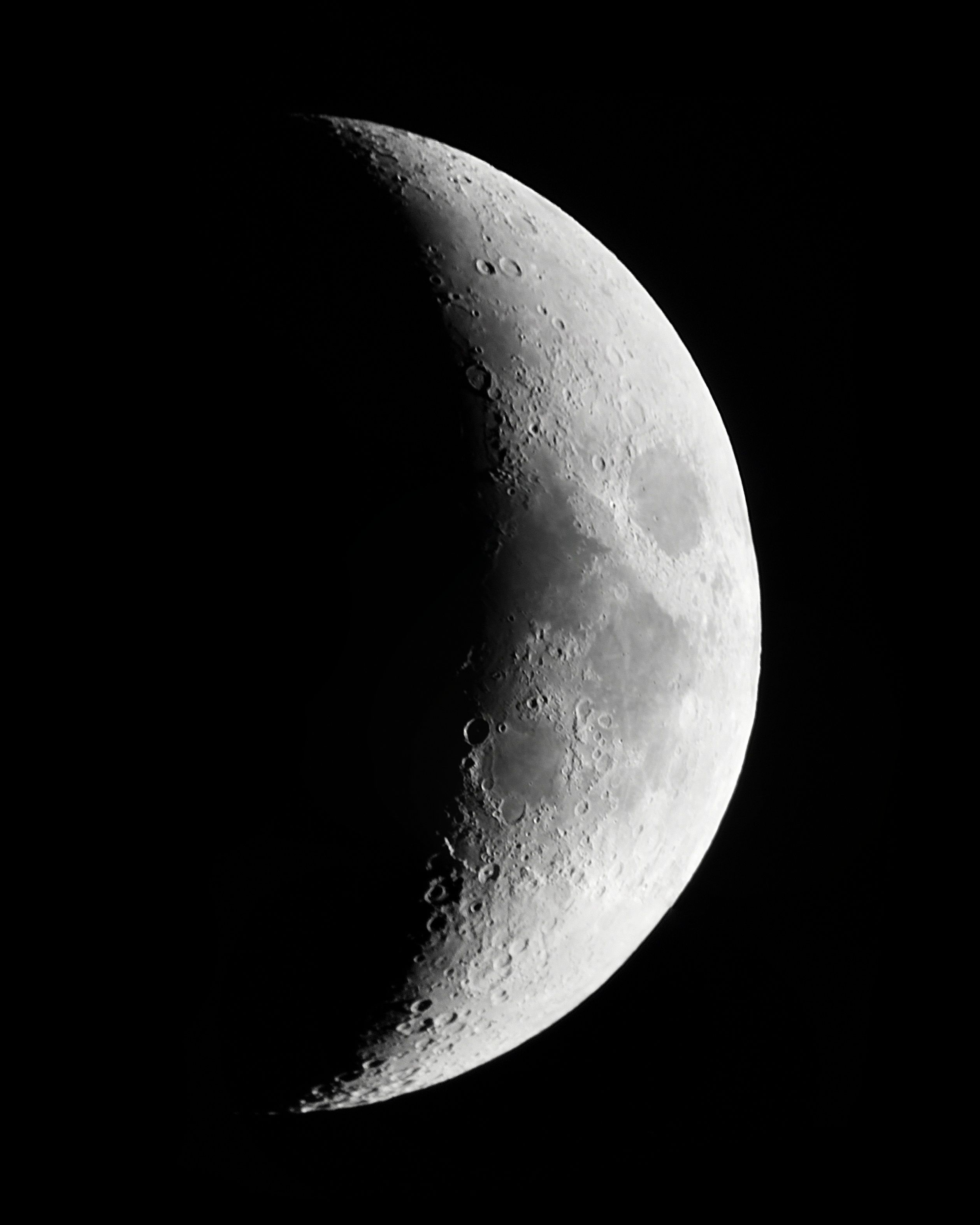 Waxing Crescent Moon | Astronomy Images at Orion Telescopes