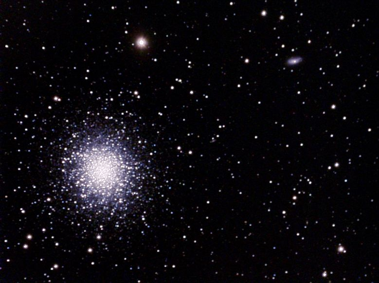 M13 Hercules Cluster and 2 Small Galaxies