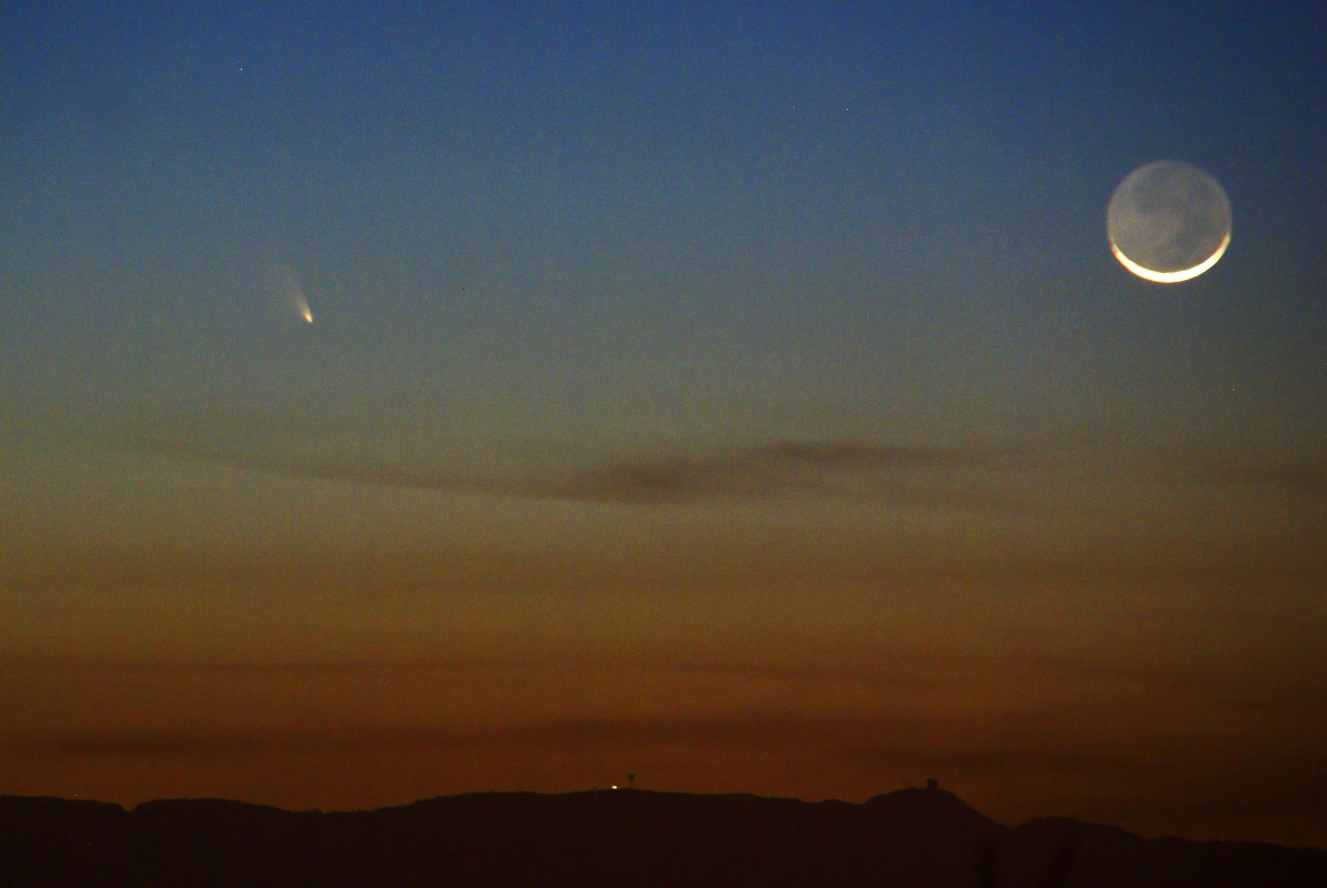 Comet PanSTARRS 3-12-13 at Orion Store