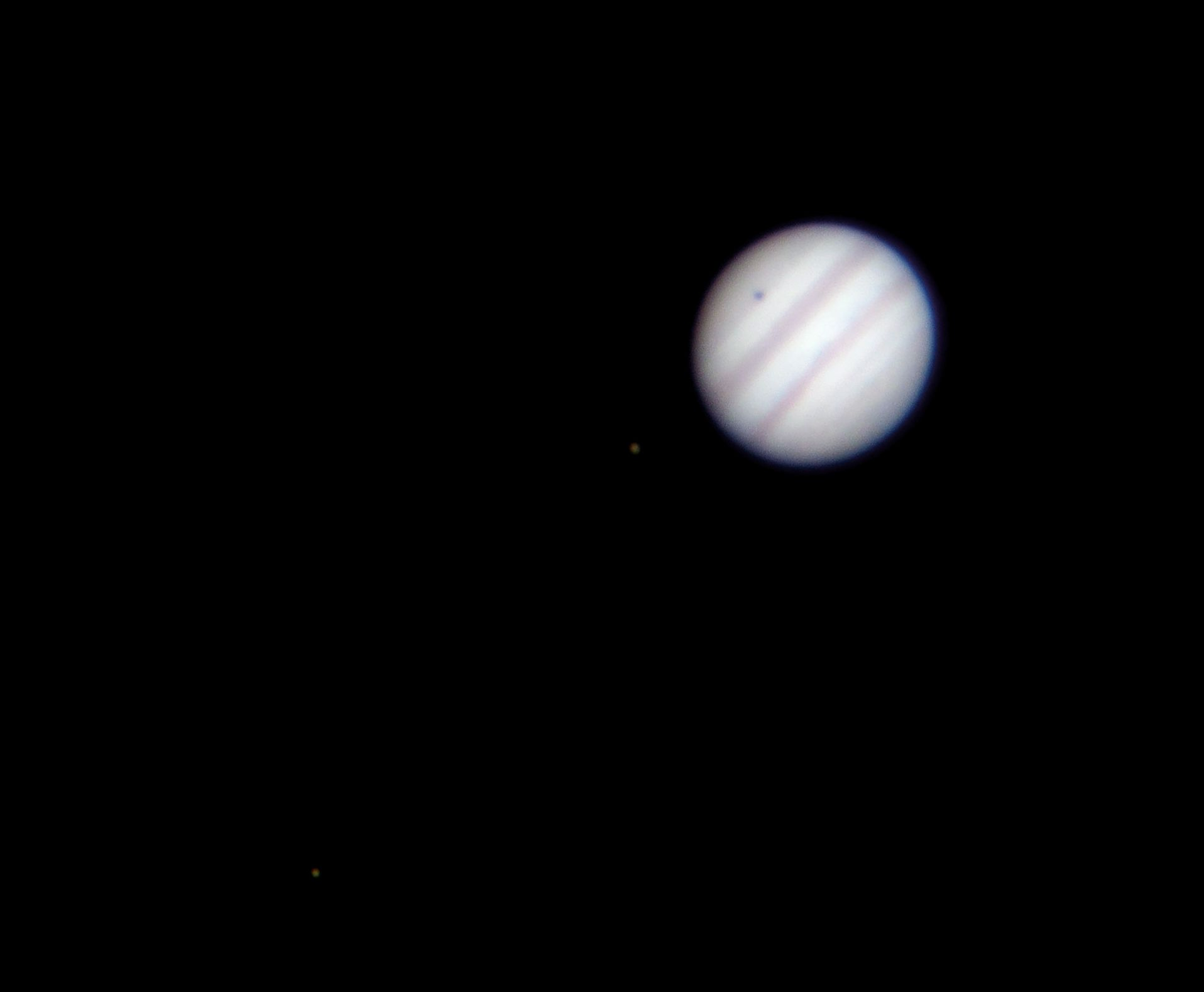 Jupiter and two moons / Callisto shadow transit at US Store