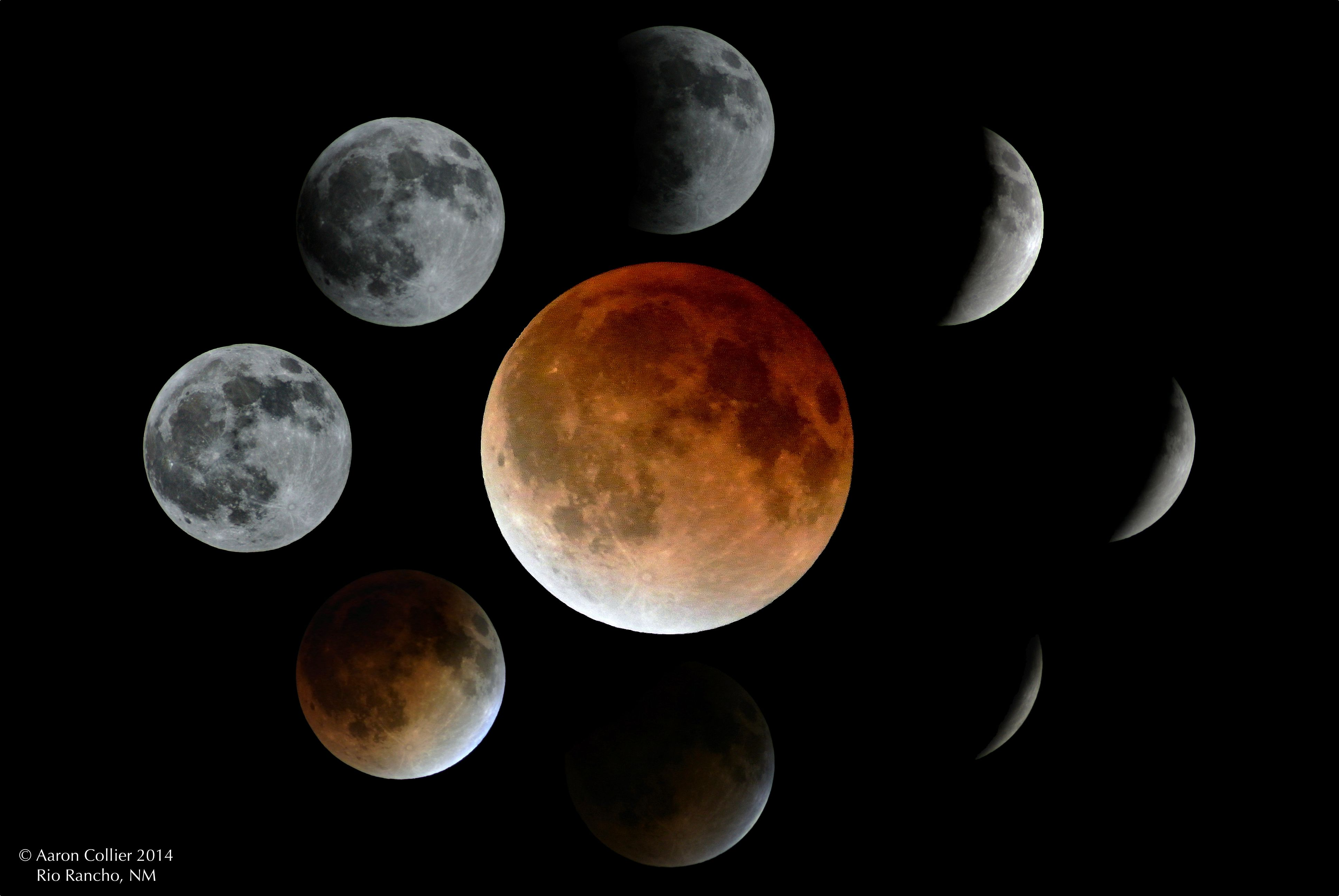Total Lunar Eclipse Sequence   Astronomy Images at Orion ...
