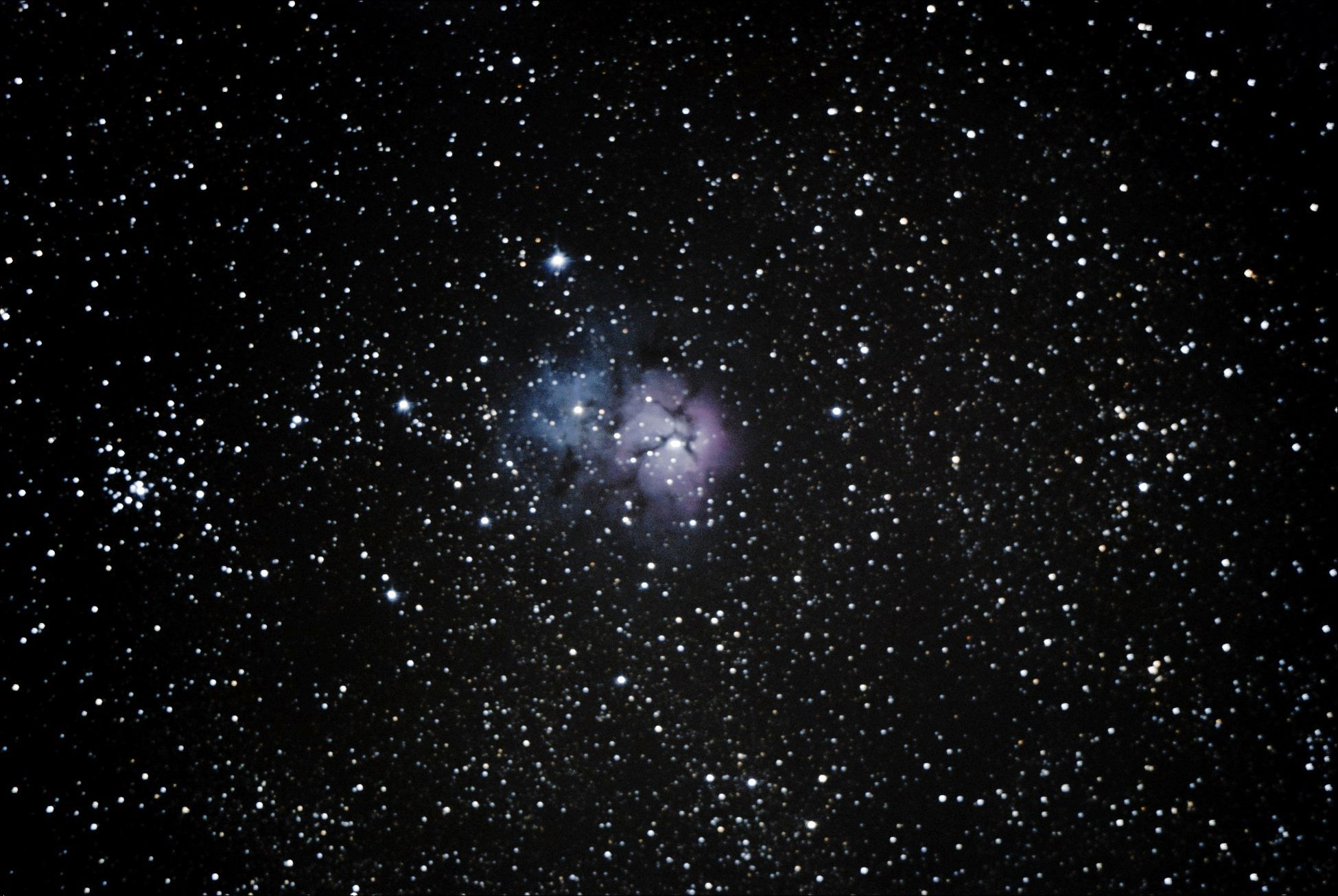 M20 and M21 Trifid Nebula Open Cluster