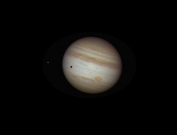 Jupiter and moon Europa