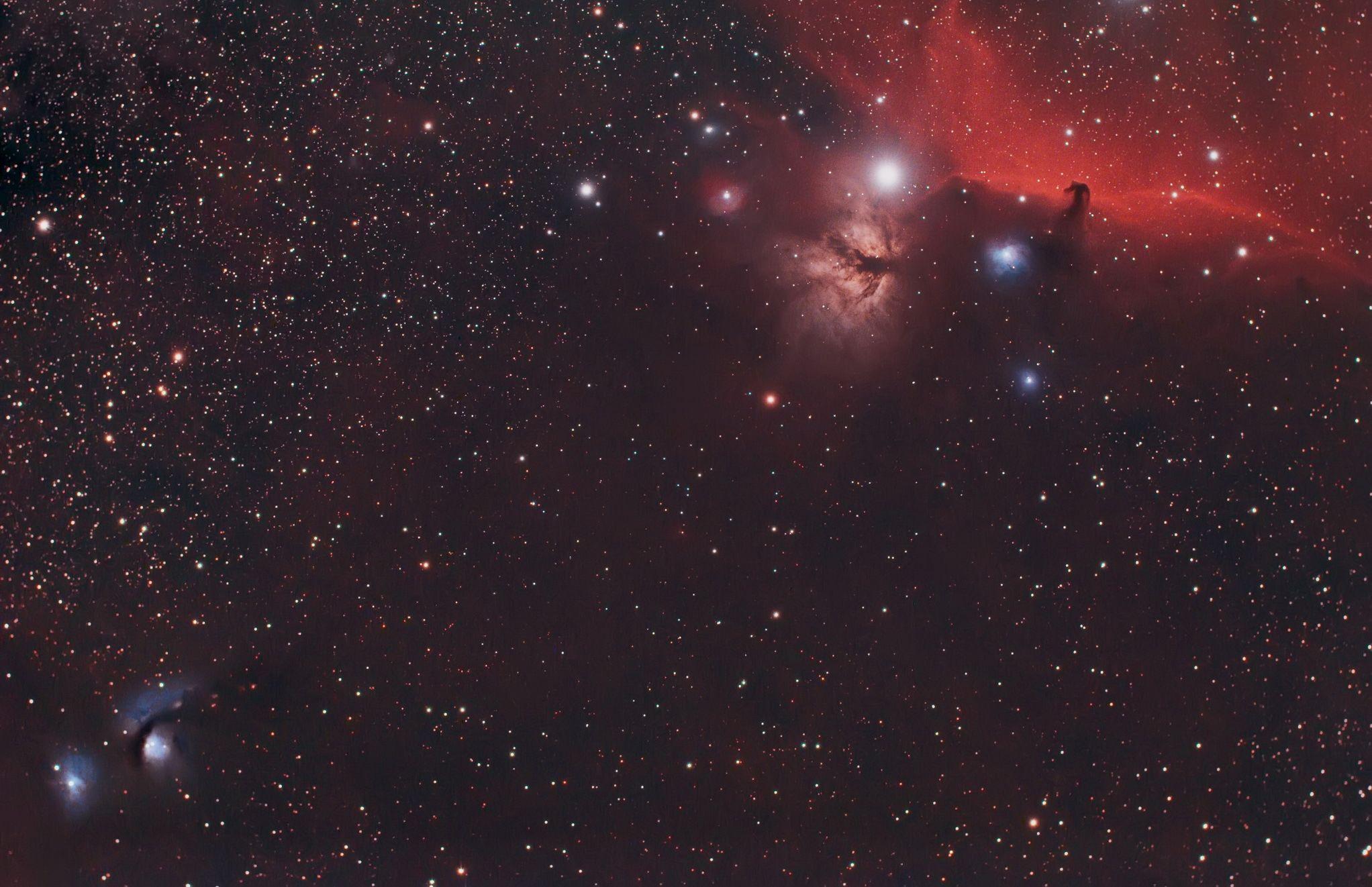 The Horsehead Nebula to M78