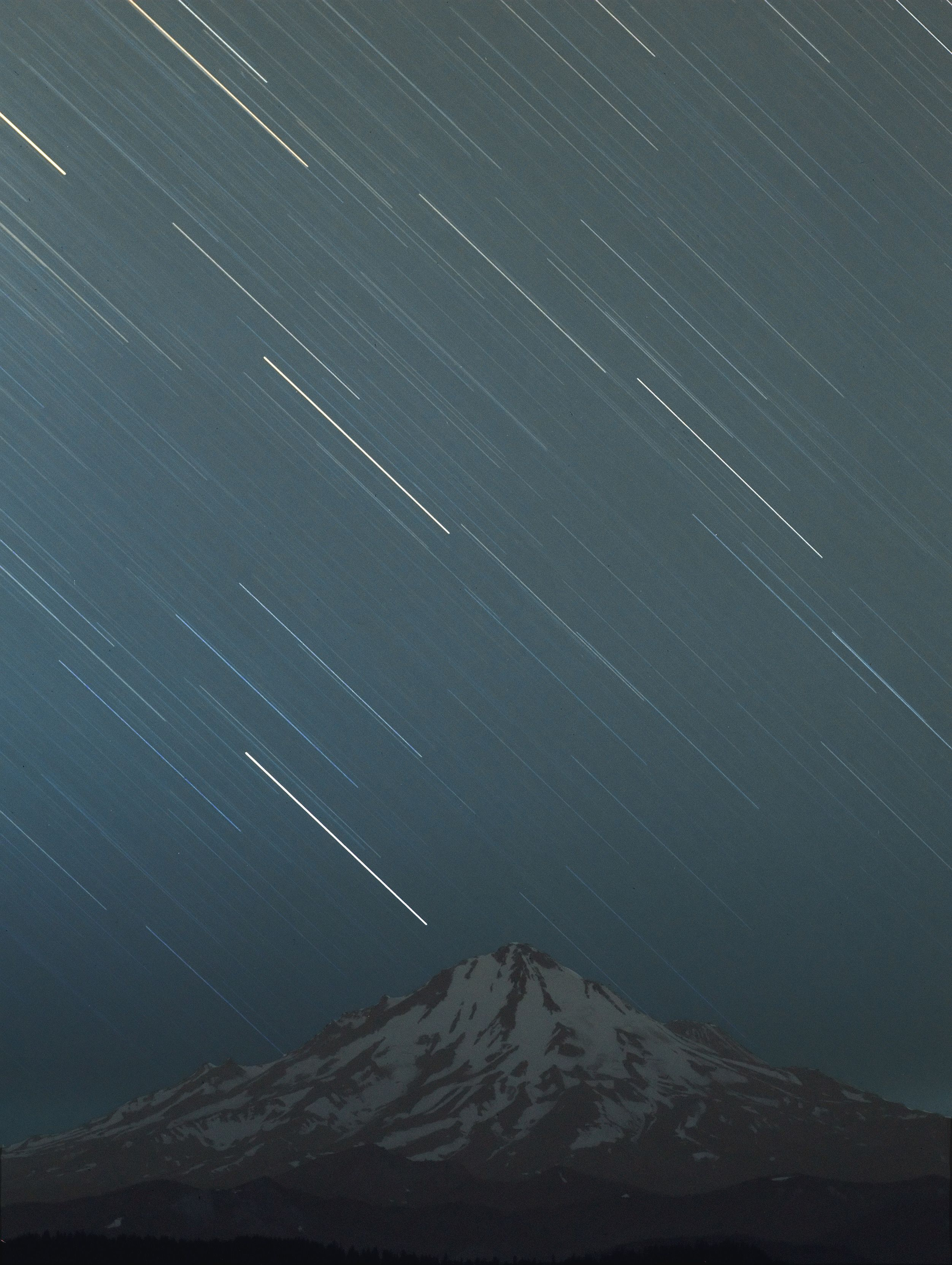 Star Trails Over Mt. Shasta at Orion Store