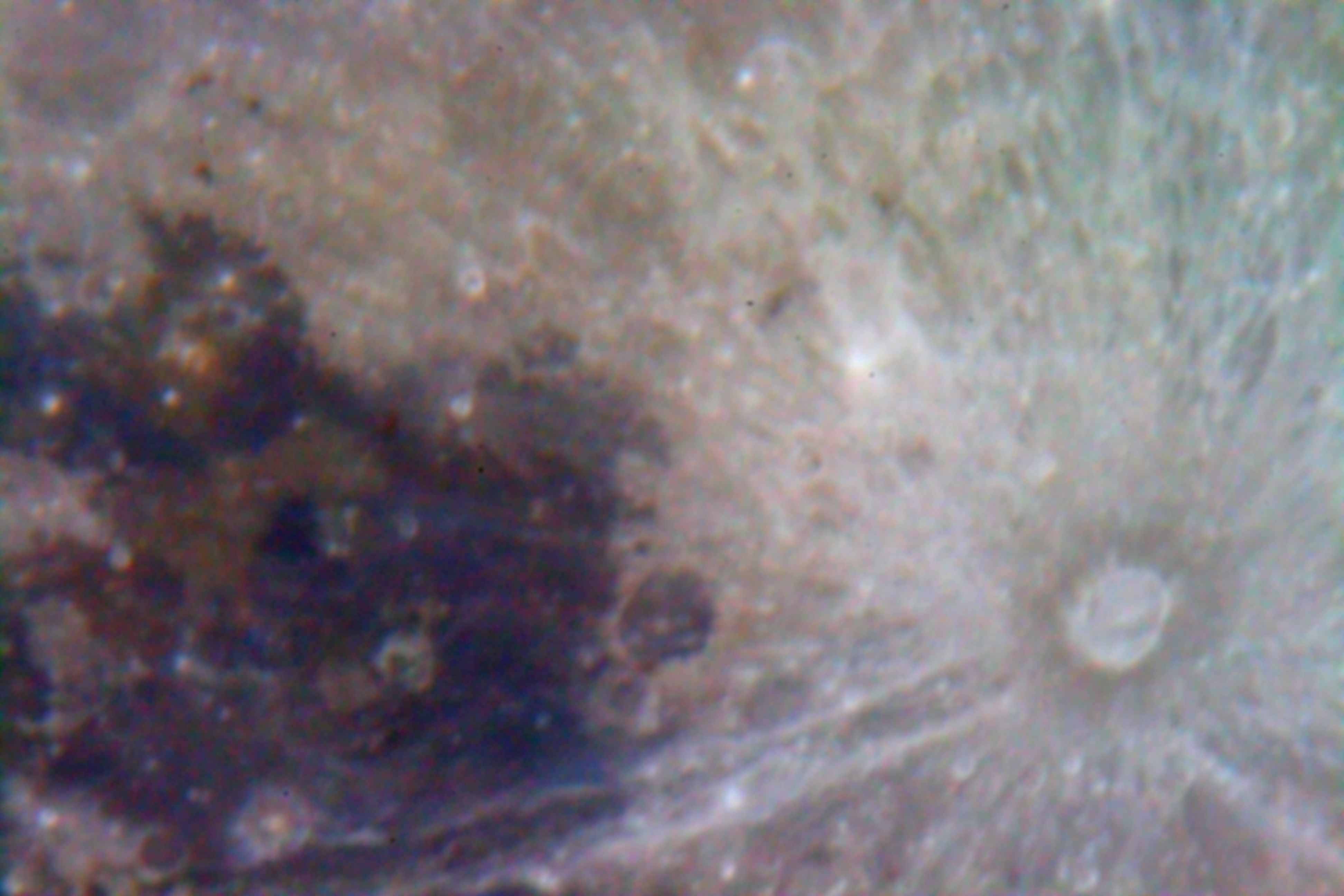 Crater Tycho (Enhanced Color)