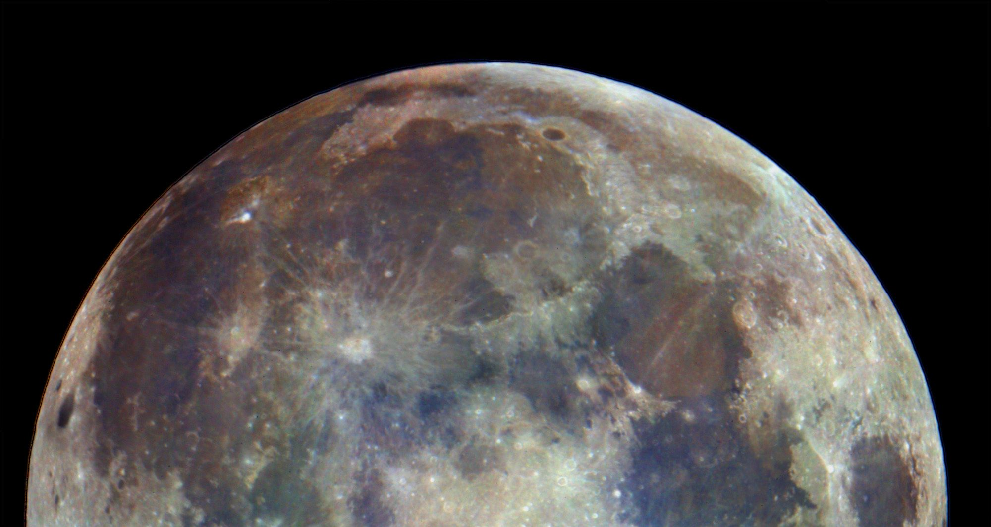 10 Mosaic Moon Picture (Enhanced Color)