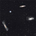 Three Interesting Galaxy Groups in Leo