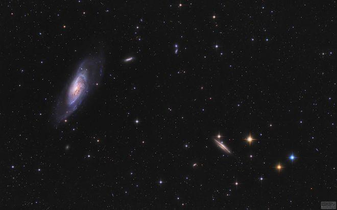 M106, NGC 4217, 4226, 4231, 4232