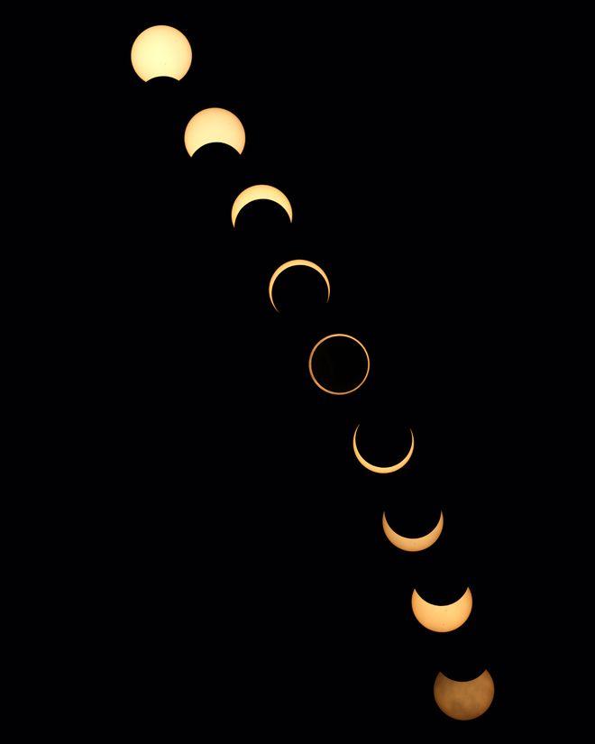 Annular Solar Eclipse Sequence