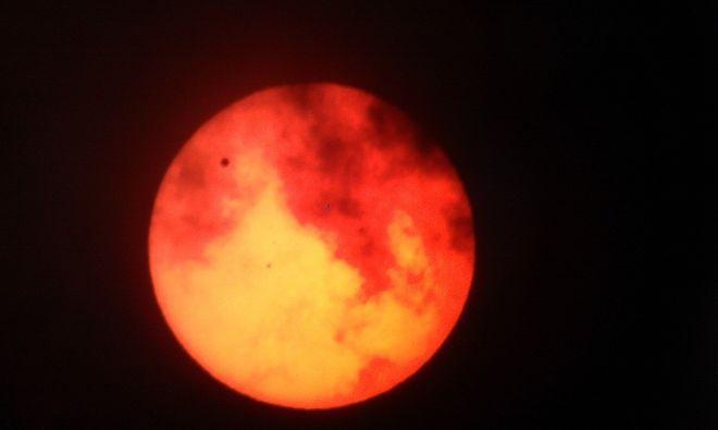 Venus Transit with Clouds