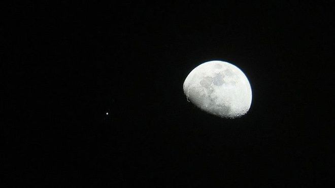 Moon and Jupiter Conjunction at Orion Store