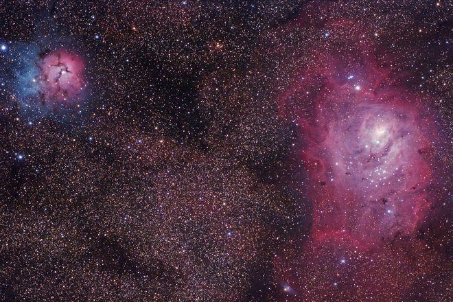 Trifid and Lagoon Nebulas 4-12-13 at US Store