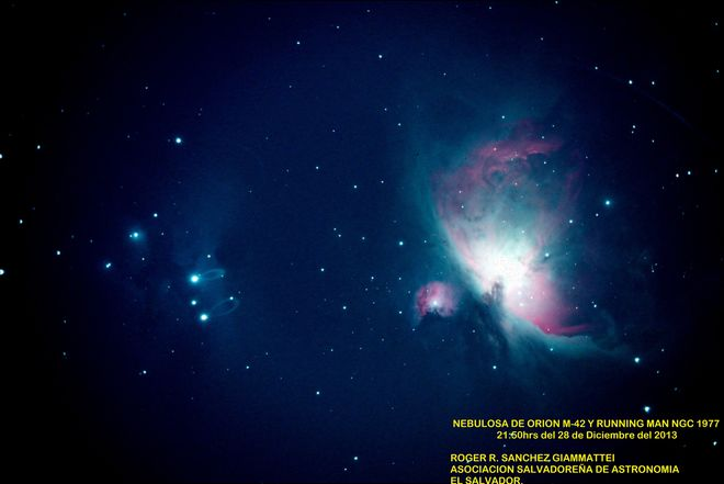 Orion Nebula M42 and Running Man NGC1977