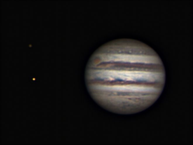 Jupiter, IO and Callisto