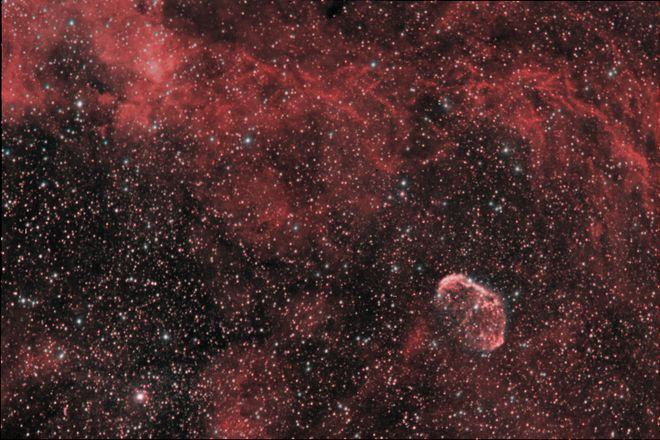 NGC 6888 - Crescent Nebula (wideview)