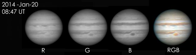 Jupiter using RGB Filters at US Store