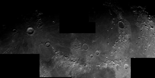 Lunar Mons 5 panel Mosaic